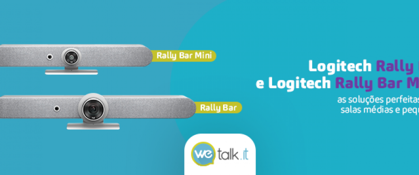 Logitech Rally Bar e Logitech Rally Bar Mini: as soluções perfeitas para salas médias e pequenas